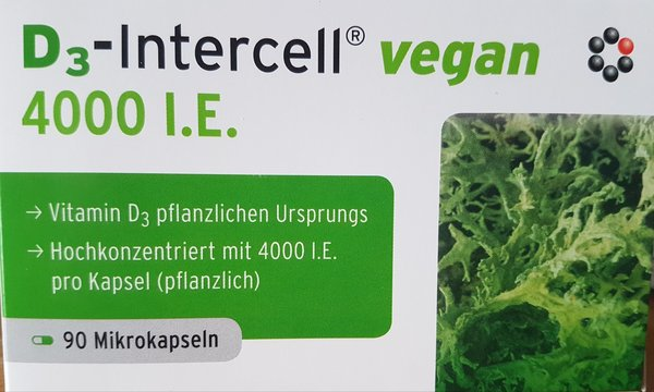 Intercell Vitamin D3 Vegan 4000 I.E. 90 Kapseln